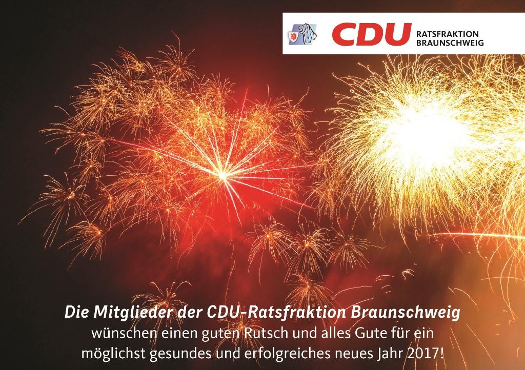 Die Mitglieder der CDU-Fraktion wünschen einen guten Rutsch… | CDU ...